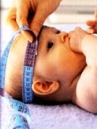Окружность головы и груди у детей