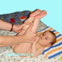 поднимаем прямые ноги