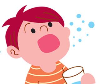 полоскать горло ребенку