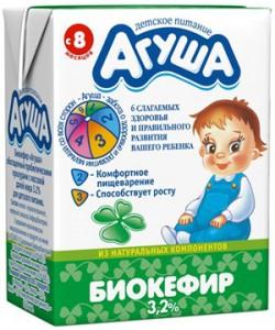 агуша Кефир как прикорм