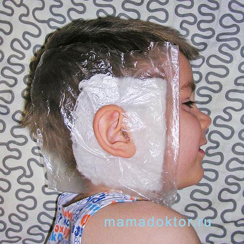 компресс на ухо