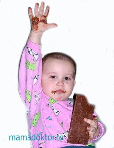 шоколад ребенку